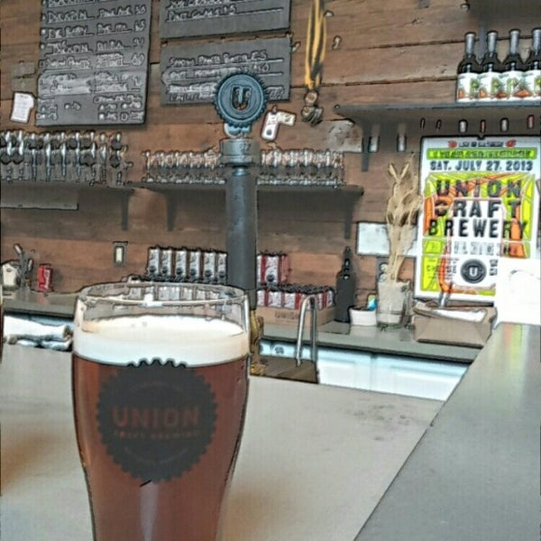 Photo taken at Union Craft Brewing by Kevin M. on 3/7/2014
