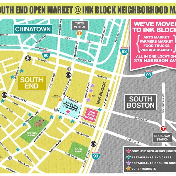 Foto scattata a South End Open Market @ Ink Block da South End Open Market @ Ink Block il 4/12/2016