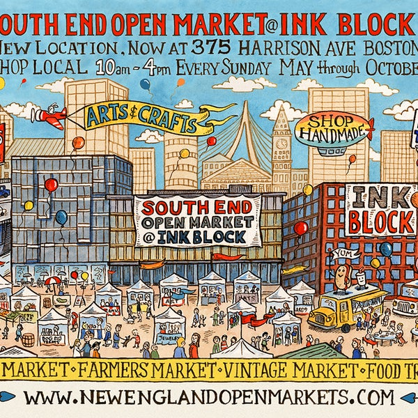 Foto scattata a South End Open Market @ Ink Block da South End Open Market @ Ink Block il 3/24/2016