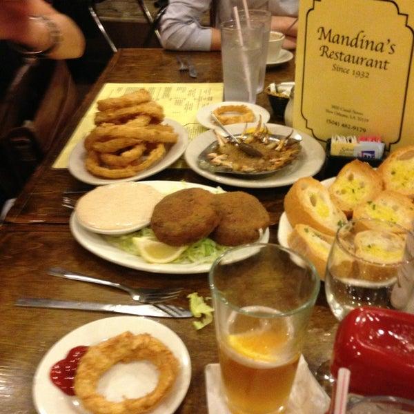 Photo taken at Mandina's Restaurant by Bryan O. on 3/8/2013