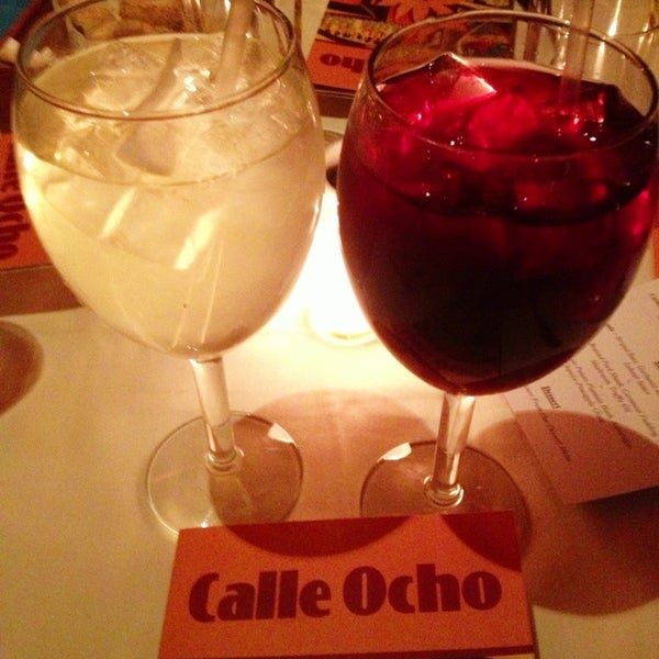 Get a free glass of sangria when you check in on either yelp or foursquare!