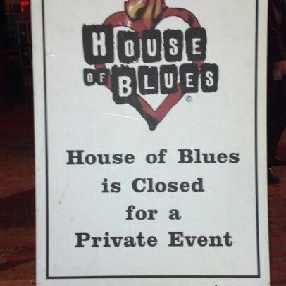 11/10/2012에 Chad M.님이 House of Blues에서 찍은 사진