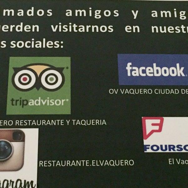 Foto tomada en OV Vaquero Restaurante y Taquería por El V. el 7/29/2015