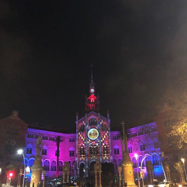 Photo taken at Sant Pau Recinte Modernista by apotoxin t. on 1/1/2020