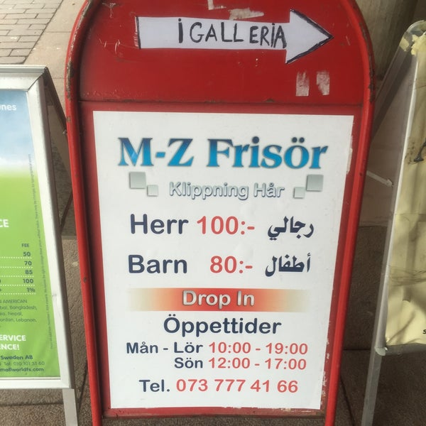drop in frisör