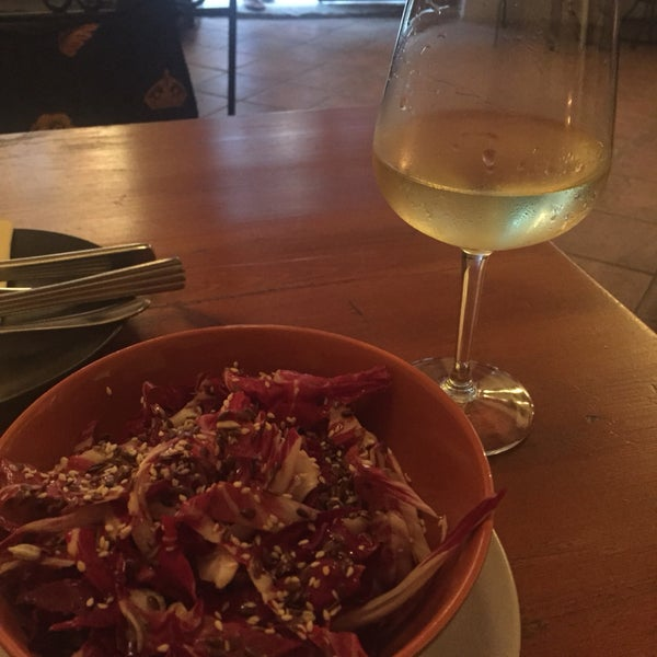 House wine is nice and so is the radish salad.