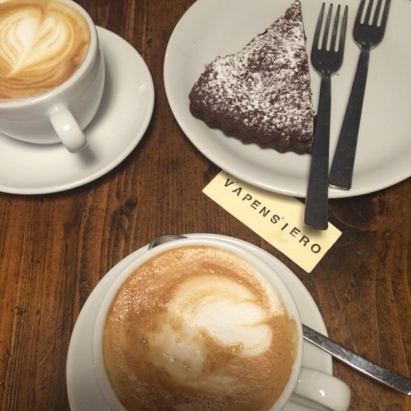 Coffee is decent and the Chocolate brownie cake is moist and soft, yummy!