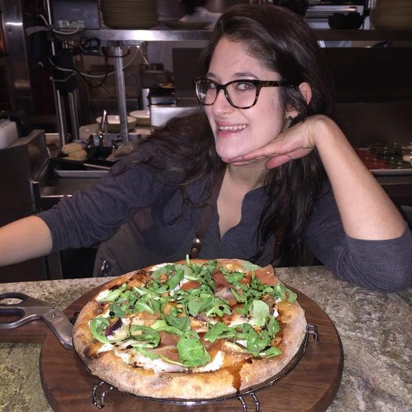 Amazing prosciutto ,fig and arugula pizza