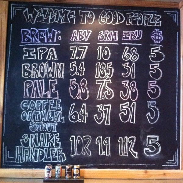 Foto diambil di Good People Brewing Company oleh Jeff H. pada 4/13/2013