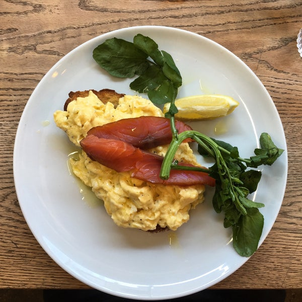 The cold brew coffee is amazing, as well as the scrambled eggs and smoked salmon