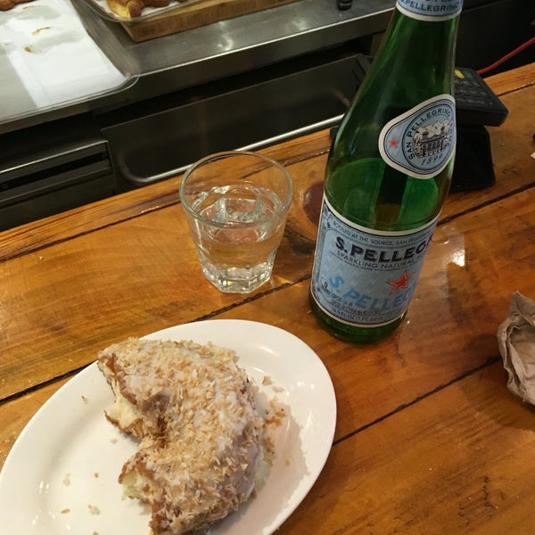 Donut and San Pellegrino