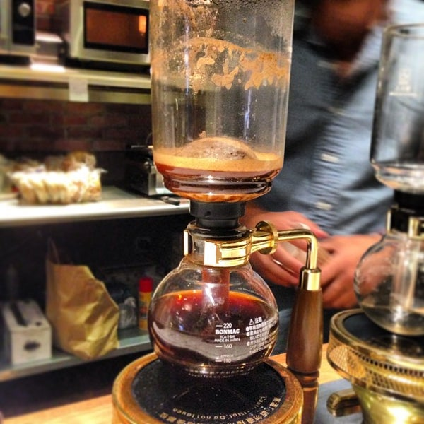 Siphon coffee is pretty strong and has an awesome process to watch brew.