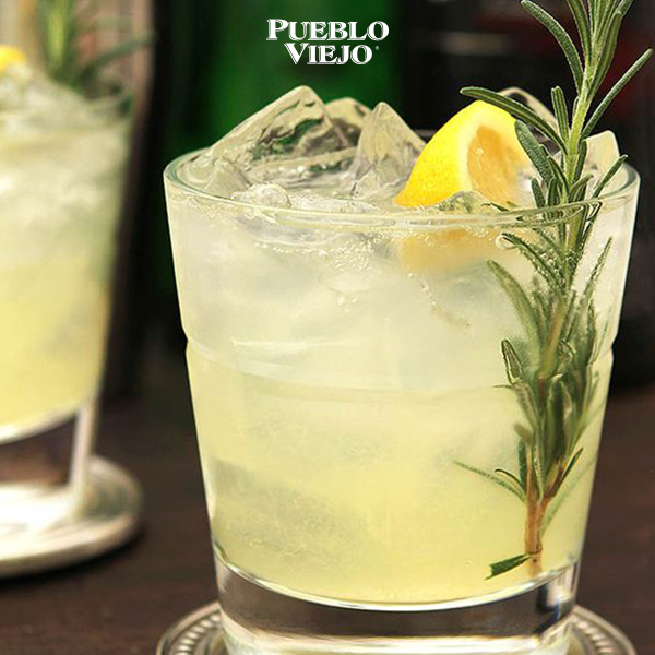 Enjoy a cocktail mixed with Pueblo Viejo Blanco Tequila!