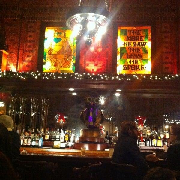 Снимок сделан в The Owl Bar пользователем Sam Y. 12/22/2012