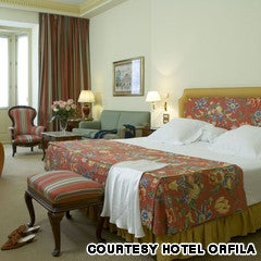 A converted 19th-c palace, with marble floors in the reception areas and period-style furniture, the Orfila also has an upmarket restaurant with a classy lunchtime set menu that's also a good value.