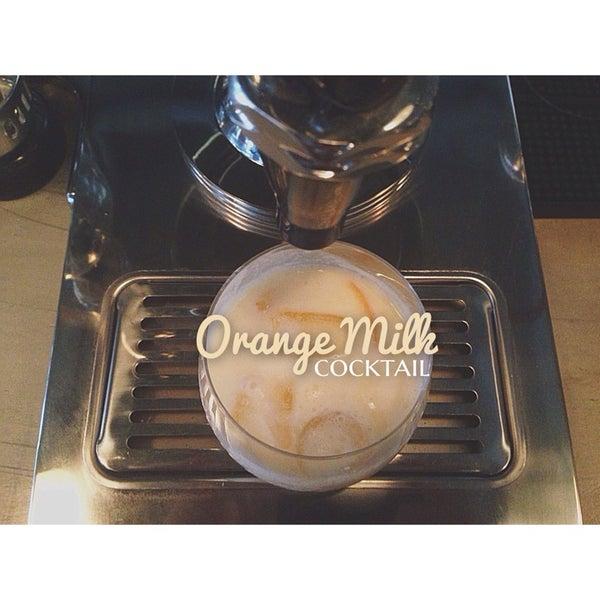 Orange Milk Cocktail!