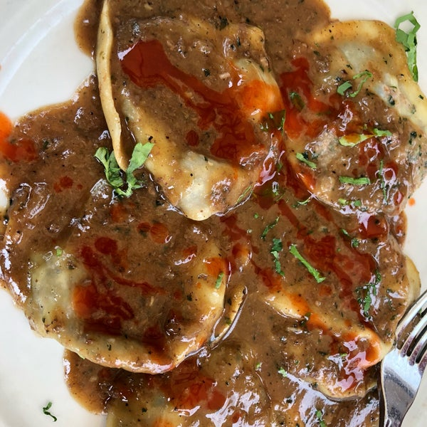 Delicious oxtail ravioli and gumbo! 👌🏾