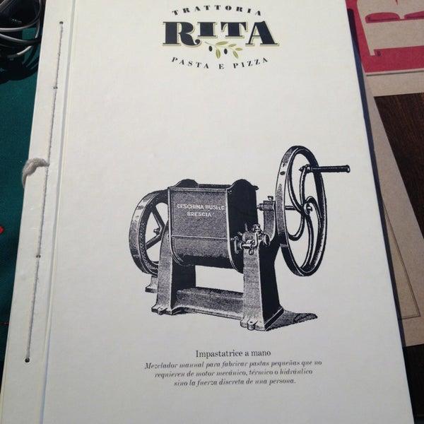 รูปภาพถ่ายที่ Trattoria Rita โดย Andres P. เมื่อ 3/9/2013