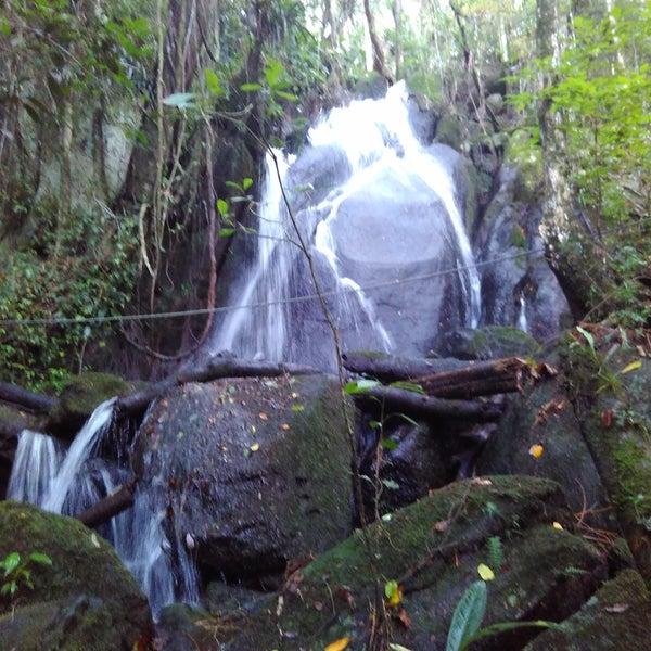A cachoeira da trilha da cachoeira