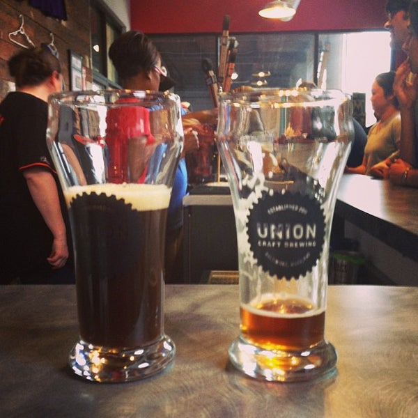 Photo taken at Union Craft Brewing by kyle m. on 5/18/2013