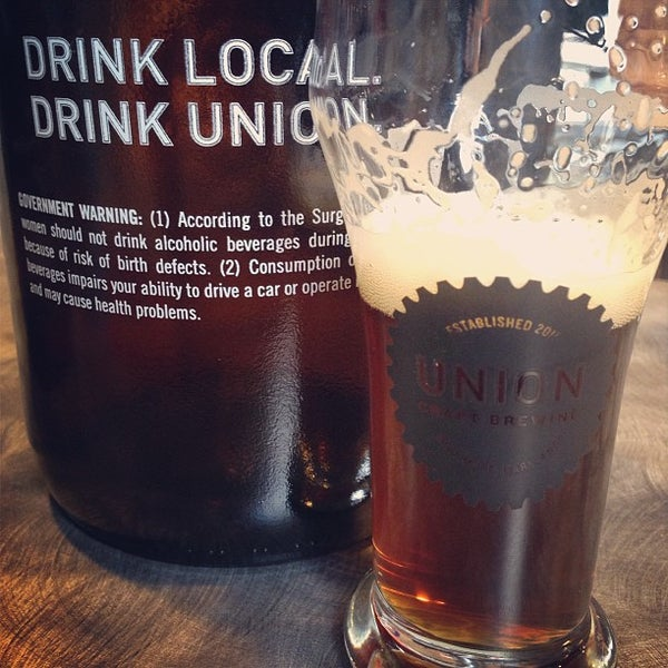 Photo taken at Union Craft Brewing by kyle m. on 3/2/2013