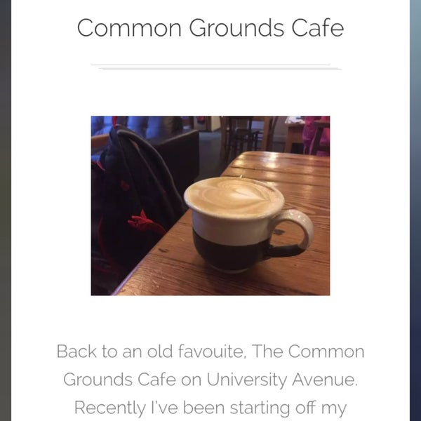Check out my review http://www.coffeeshopcapers.co.uk/belfast/2016/01/08/common-grounds-cafe-4/