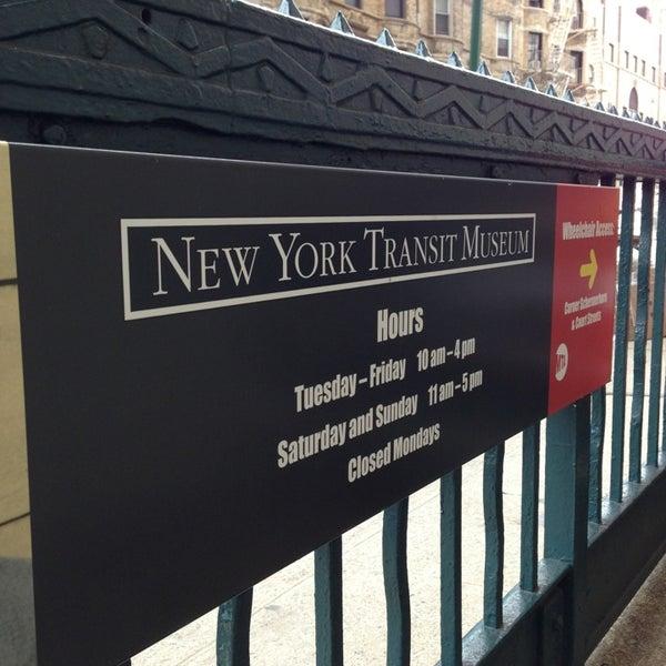 Foto diambil di New York Transit Museum oleh Sam B. pada 3/2/2013
