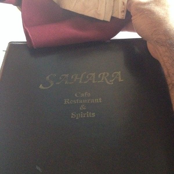 Das Foto wurde bei Sahara Restaurant von Howard R. am 8/21/2014 aufgenommen