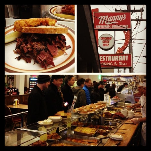 Foto diambil di Manny's Cafeteria & Delicatessen oleh Stan R. pada 12/31/2012