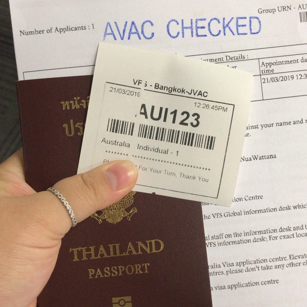 By Photo Congress    Vfs Thailand Australian Visa