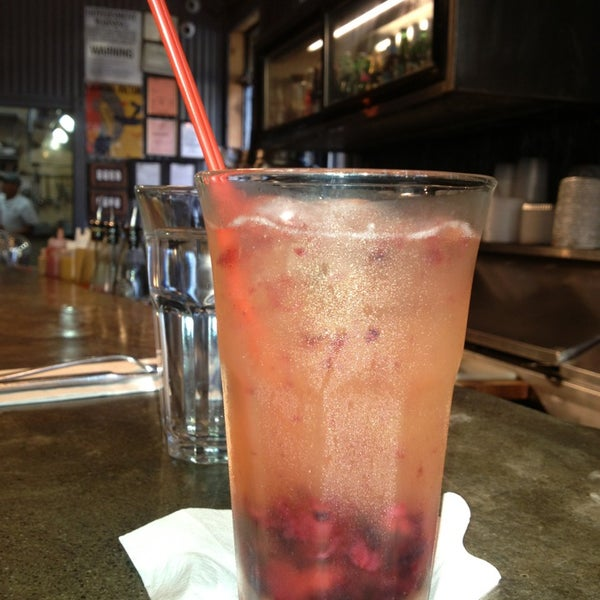 $5 happy hour  sangria --berry,white or red