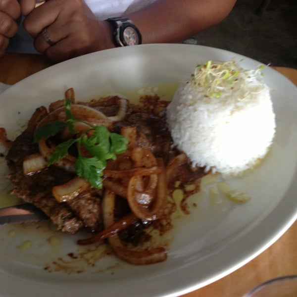 Dominican style steak con onions...delish ....cooked to perfection and the taste is just mouth watering
