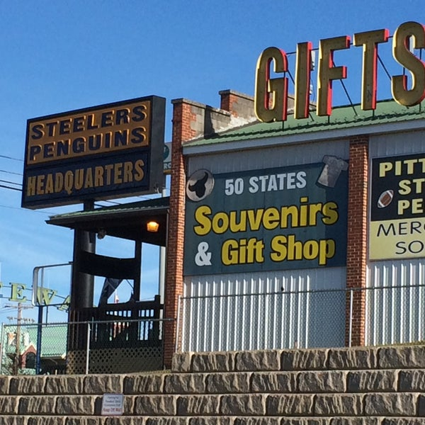 Hot Steelers Penguins Headquarters Gifts Gift Shop in Breezewood
