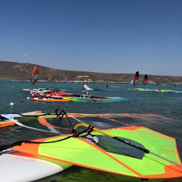 Das Foto wurde bei Alaçatı Surf Paradise Club von Betül K. am 8/5/2018 aufgenommen