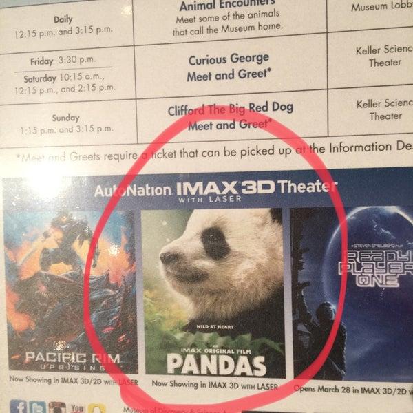 Photo prise au Autonation IMAX 3D Theater par Alberto P. le3/31/2018