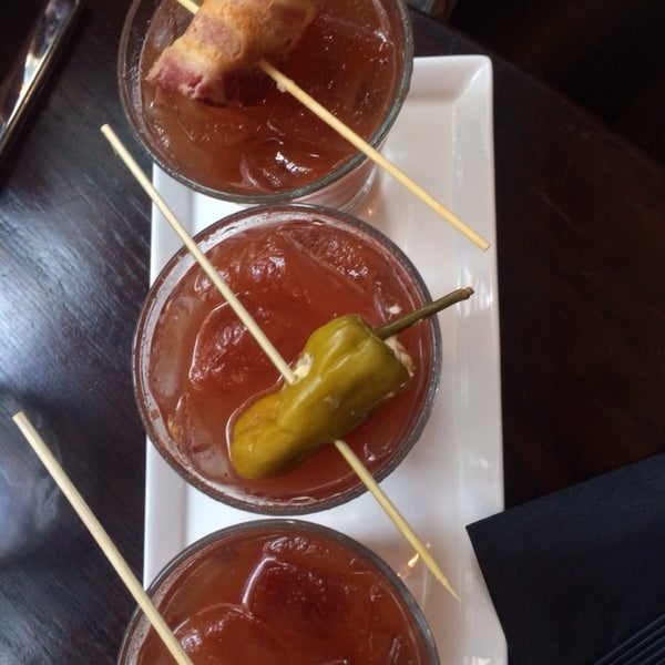 Weekend Brunch just got hotter ... Try a Bloody Mary flight.