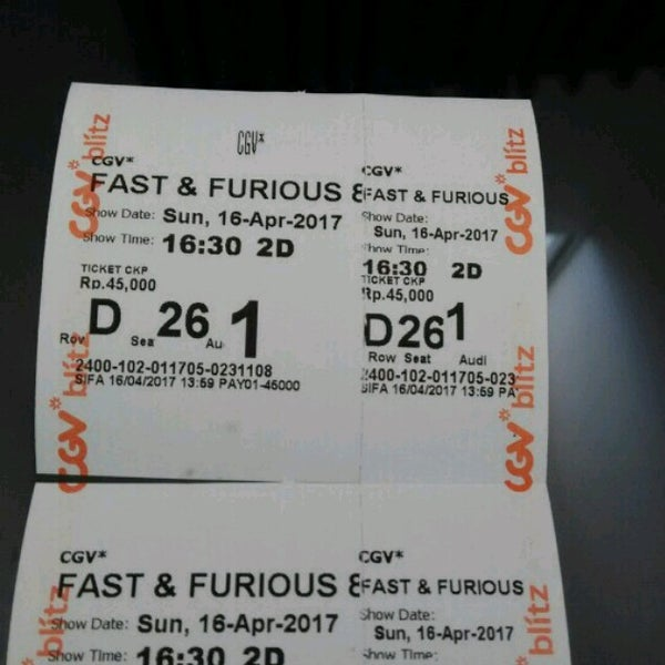 Photos At Cgv Cinemas Multiplex In Tangerang