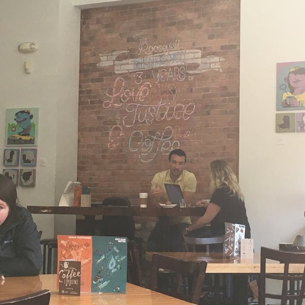 Photo taken at The Roosevelt Coffeehouse by Bill B. on 8/22/2018