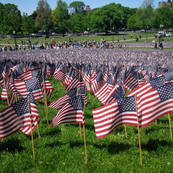 Visit the Common (not Commons, that's what tourists call it) on Memorial Day and see all the flags. It's truly beautiful. And appropriately memorable.