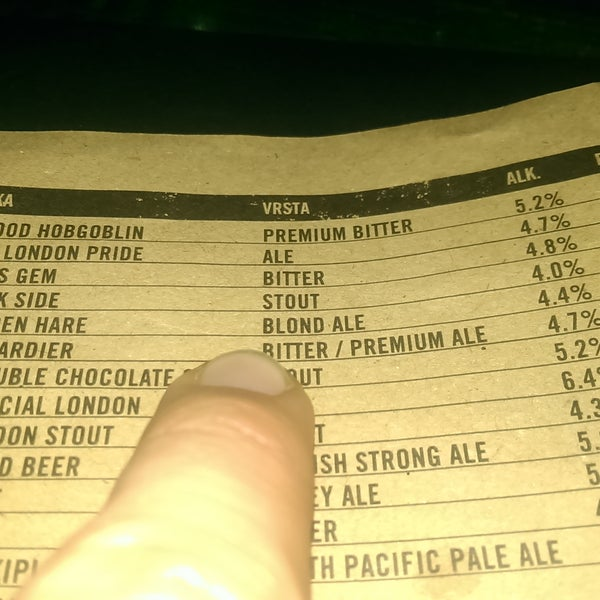 Zbunio sam se koliki izbor piva imaju. | It's confusing variety of beers they have.