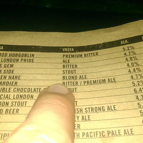 Zbunio sam se koliki izbor piva imaju. | It's confusing variety of beers they have.