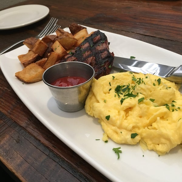 Brunch and steak and eggs