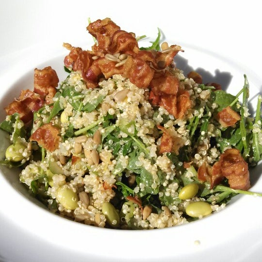Quinoa salad: add the deep fried bacon. Worth the $2