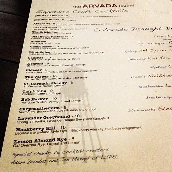 1/22/2013にAdam D.がThe Arvada Tavernで撮った写真