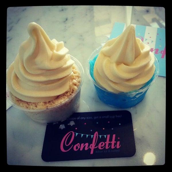 1/27/2013 tarihinde Chris T.ziyaretçi tarafından Confetti Italian Ice & Custard'de çekilen fotoğraf