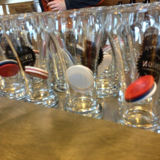 Photo taken at Union Craft Brewing by wendy h. on 12/1/2012
