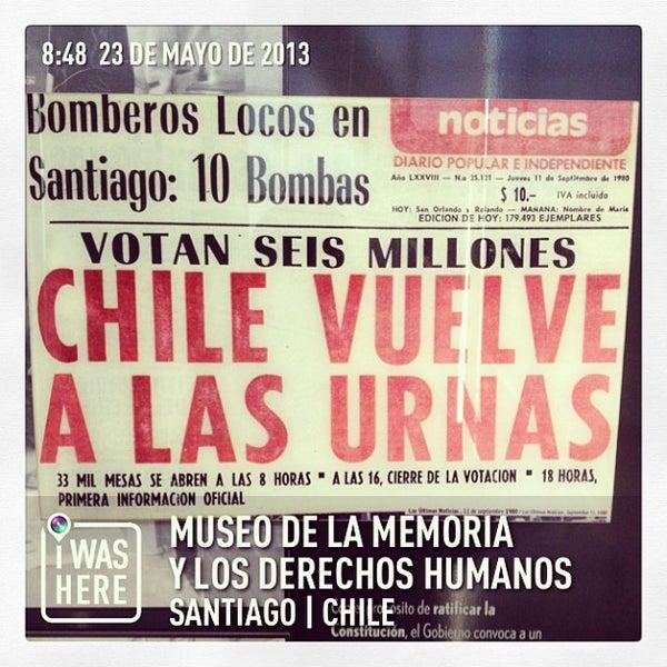 Foto diambil di Museo de la Memoria y los Derechos Humanos oleh Carlos A. pada 5/23/2013