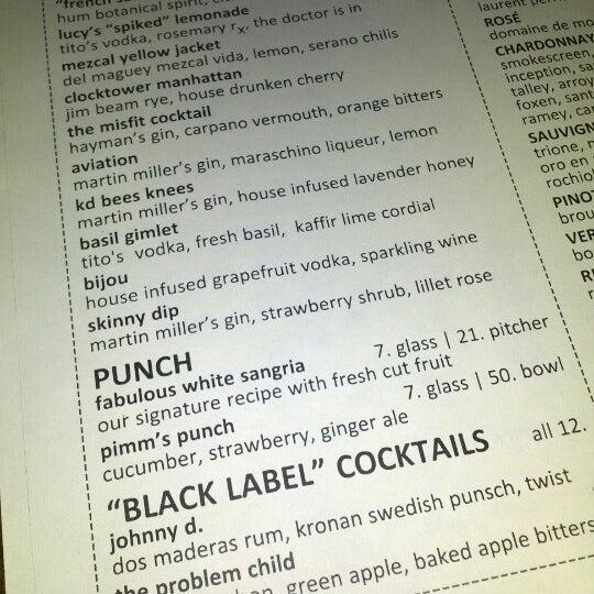 11/25/2012에 Tassia B.님이 The Misfit Restaurant + Bar에서 찍은 사진