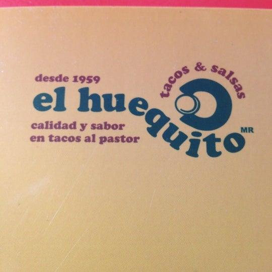 Снимок сделан в El Huequito пользователем Victor M. 10/19/2012