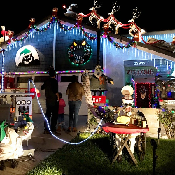 Photo taken at Nightmare Before Christmas House by Nessie on 12/17/2017